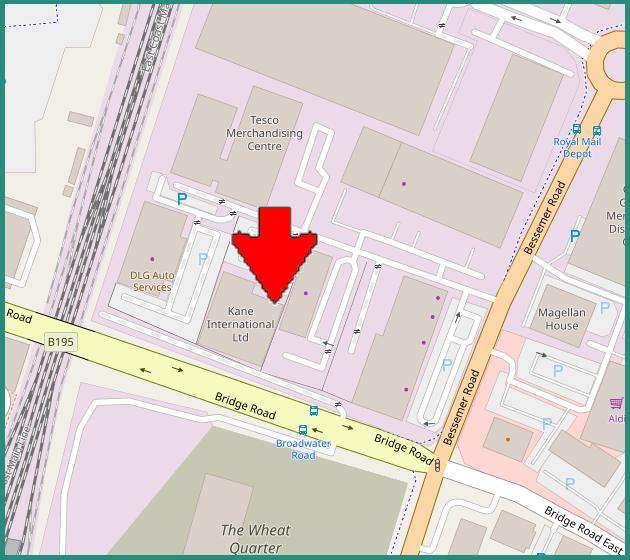 Head Office map, Weleyn Garden City