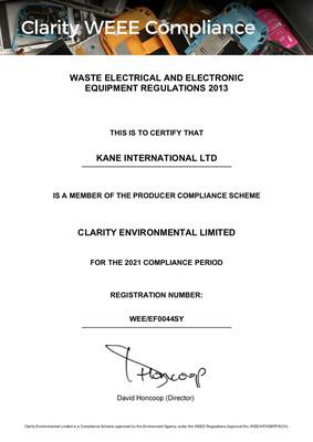 WEEE Certification