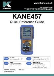 KANE457 Quick Reference Guide