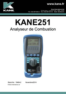 KANE251 Manual - French