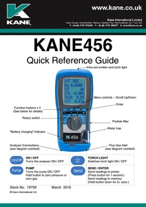 KANE456 Quick reference guide