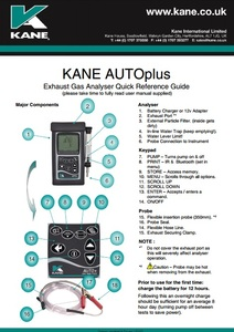 KANE AUTOplus - Quick reference guide